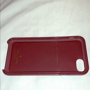 Kate Spade iPhone 7/8 jeweled camel phone case